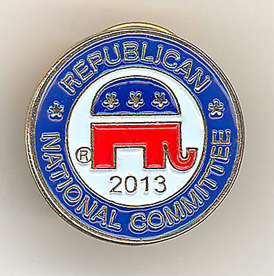 """* Great ~ """" REPUBLICAN NATIONAL COMMITTEE  2013 """" ~ Gold Lapel Pin"""