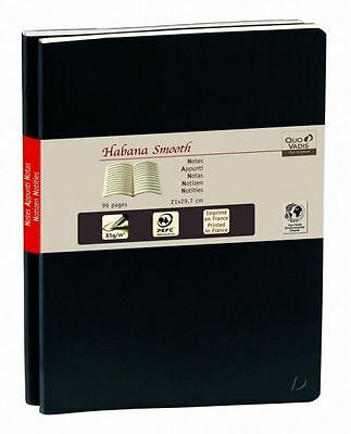 Quo Vadis - Notes Carnet 29 Ligné Duo Habana Smooth Noir 21x29,7cm - NEUF