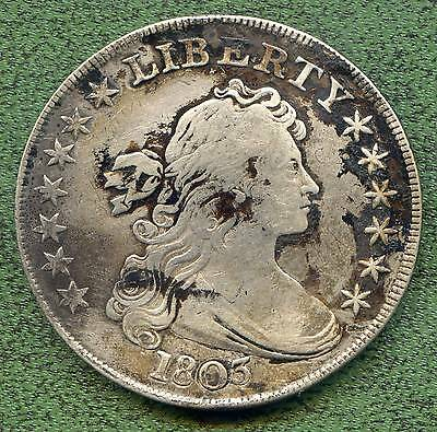 1803 small 3 variety Bust Dollar, Very Fine details with multiple issues