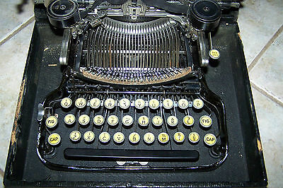 antique apothecary medical corona typewriter  3 bank used vintage portable 1900