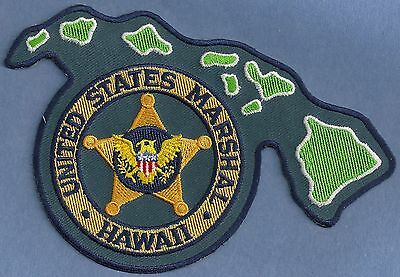 United States Marshal Hawaii Police Patch State Shaped