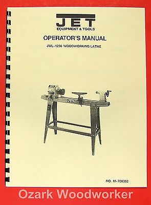 JET/Asian JWL-1236 Wood Lathe Operator's & Parts Manual 0377