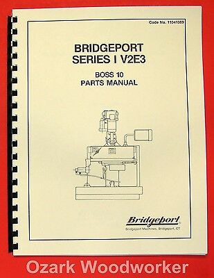 BRIDGEPORT Series I V2E3 BOSS 10 CNC Mill Part Manual 0080