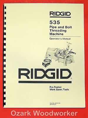 RIDGID 535 Pipe & Bolt Threading Machine Manual 0576
