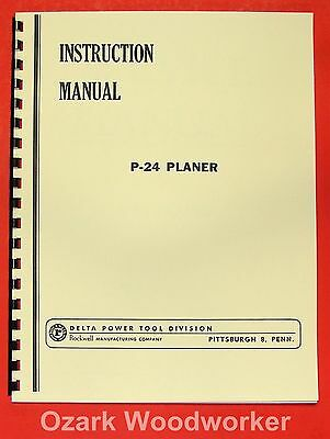 ROCKWELL P-24 Planer Instructions & Parts Manual 0618