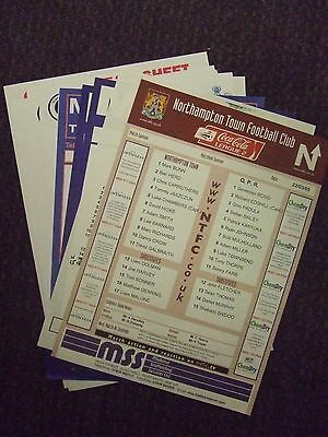 Qpr 1986-2011: Reserves Away Programmes Official : Choose From Drop Down List!!!