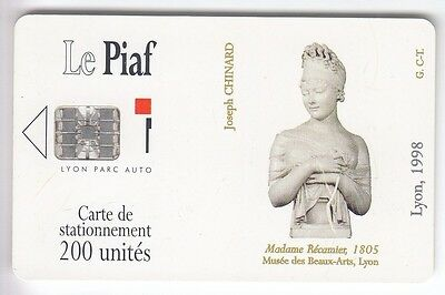 Piaf Parking Carte / Card .. Lyon 200U Sc7 Art Recamier 1998 Ut/be Chip/puce