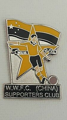 Wolverhampton Wanderers Rare Enamel Badge China  Supporters Wolves