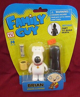 2013 Family Guy Brain Create-A-Figure Includes A Part To Build Death NOC