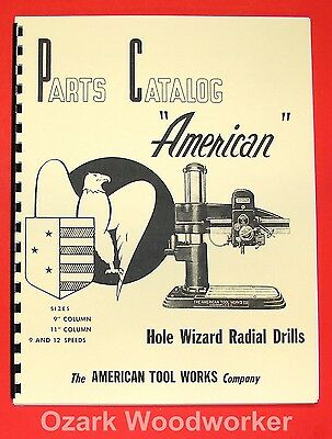 AMERICAN Tool Works Hole Wizard 9 & 12 Speed Radial Drill Parts Manual 0012