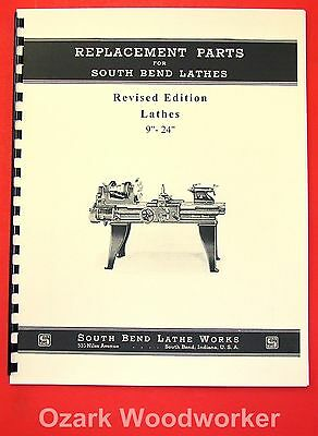 "SOUTH BEND 9""-24"" Revised Early Vintage Lathes Parts Manual 1906-39 1083"