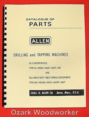 ALLEN No.2 Drilling & Tapping Machines Parts Manual 0004