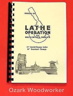 "Atlas Craftsman Manual of Lathe Operation Book for 12"" Older Style 0036"