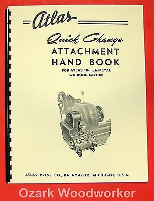 "ATLAS Quick Gear Change Handbook for 10 ""Lathe Manual 0042"