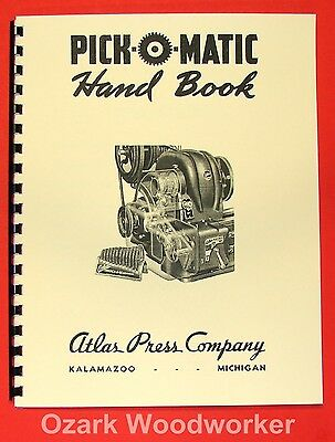 ATLAS Pick-O-Matic Lathe Hand Book Manual 0041