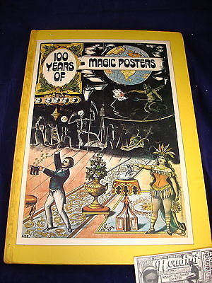 100 Years of Magic Posters 1st Ed Hardcover Charles Reynolds Grosset Vintage Lot