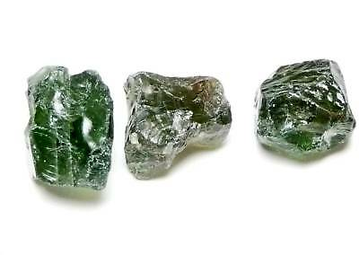 Apatite, green-facet rough-crystal,(3)10-13x9-11x6-8mm,20.79CT,AP-A21,specimen