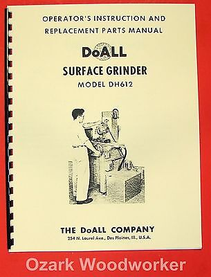 DOALL DH612 Surface Grinder Operating & Parts Manual 0274