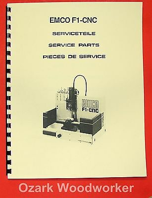 EMCO F1 CNC Milling Machine Parts Manual 0295