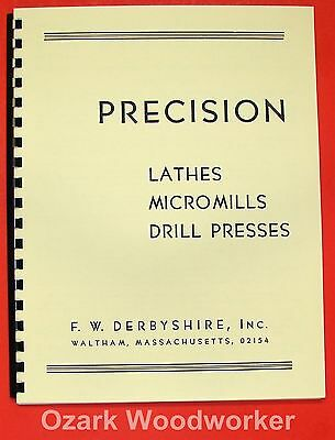 DERBYSHIRE Lathe, MicroMill, Drill Press, Part Catalog 0255