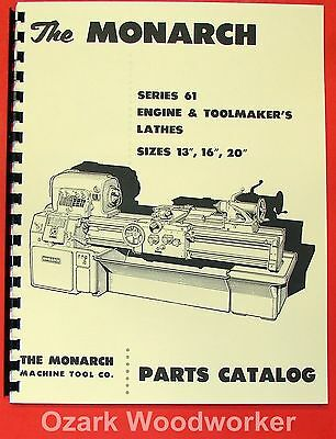 MONARCH 61 Series Lathe Parts  Manual 0470