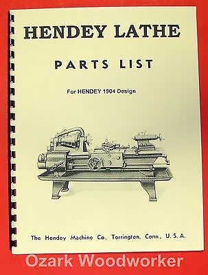 HENDEY OLD Cone Head Metal Lathe Parts Manual 0355