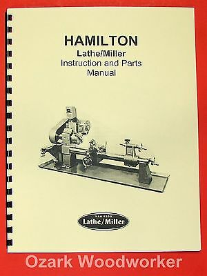 HAMILTON Lathe/Miller Instructions & Parts Manual 0326