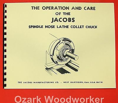 JACOBS Spindle Nose Lathe Collet Chuck Operating & Parts Manual 0942