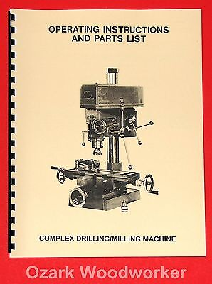 JET/Asian JET-16 Drill Milling Machine Instructions and Parts Manual 1002