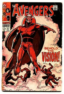 AVENGERS #57 comic book 1968-1st VISION-HOT BOOK