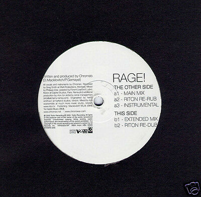 "CHROMEO Rage UK 5-trk promo vinyl 12"" NEW / UNPLAYED Riton"