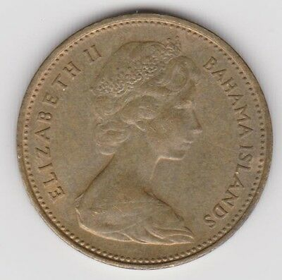 1968 Bahama Islands One Cent Coin In Great Condition Km 2 ~ You Grade