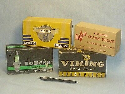 Vintage Bowers, Viking, Leggetts, Westric Spark Plug Boxes