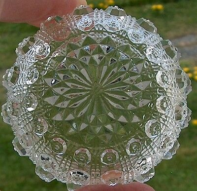 EAPG Set of 4 Westmoreland Glass Lacy Daisy Child's Berry Bowl or Open Salt