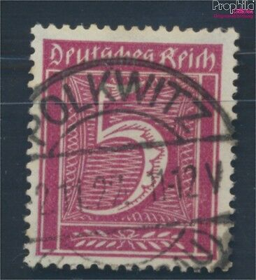 German Empire 177 proofed fine used / cancelled 1921 Drawing numbers (8031286