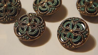 Antique Beautiful Buttons , Set Of 5 Five , Look