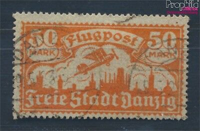 Gdansk 134 proofed fine used / cancelled 1923 Airmail (8209773