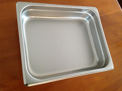 """Lot Of 4 Stainless Steel Food Buffet Trays 10"""" X 12"""" - New"""