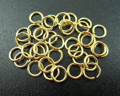 1000 pcs Golden Plated Open Jump Rings Jewelry Findings DIY 5×0.7mm Y07