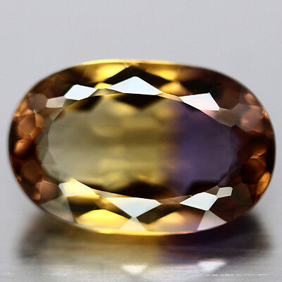Awesome Oval Cut Ametrine Of Citrine And Amethyst Gorgous Color Play 5.56Ct
