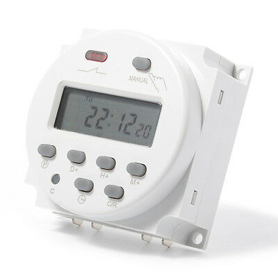 220V Digital LCD Display Programmable Time Counter Timer Switch Relay 16A TH282