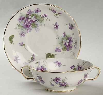 Hammersley VICTORIAN VIOLETS Cream Soup Bowl & Saucer 4171014