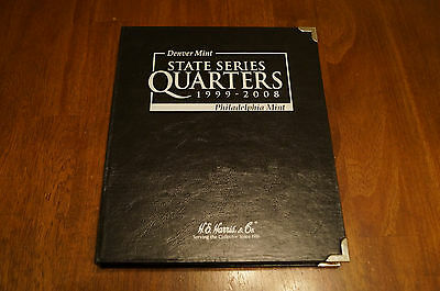 1999-2008 State Commemorative Quarters Series Collection Book Partially Filled