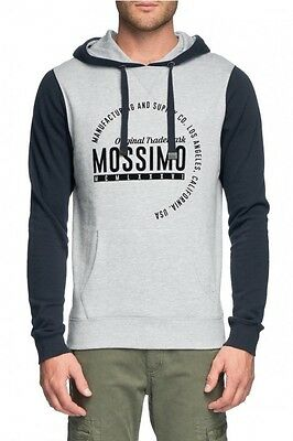 Mossimo Men's Middlefield Cotton Poly Fleece Hoody Grey Marle BNWT 50% OFF