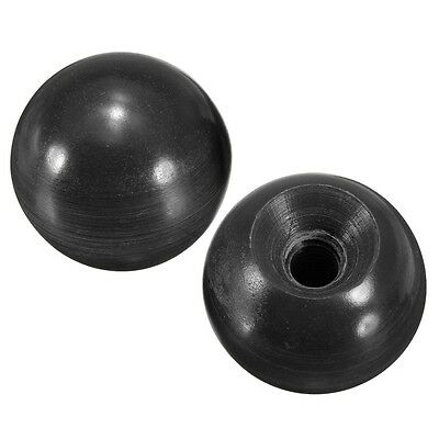 2x 4x 10x M6 6mm Bore 25mm Dia Threaded Black Round Plastic Ball Lever Knobs New