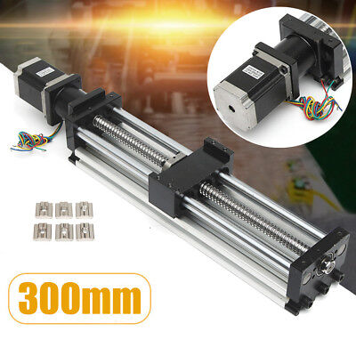 CNC Linear Motion Ball Screw Slider + Nema23 Stepper Motor 300mm Slide Stroke