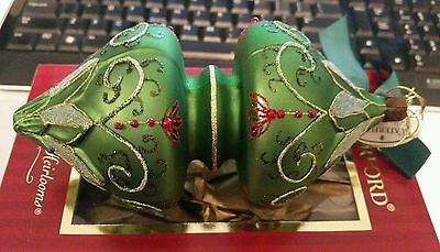 Waterford Holiday Heirlooms Irish Double Spire Christmas Xmas Ornament Poland