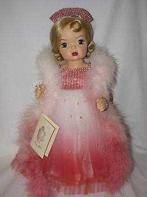 "Beautiful 16"" Reproduction Terri Lee Evening Formal 2000 Doll Mint In Box W/Cert"