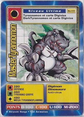 DIGIMON NON-FOIL RARE CARD - FRENCH BOOSTER SERIES 3 - Bo-133 MASTERTYRANNOMON