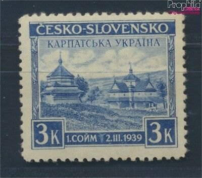 Carpathian-Ukraine 1 MNH 1939 ukrainian wooden church (8618292